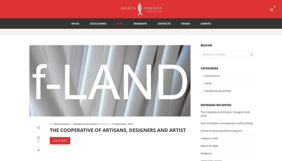 eduardo armada - diseño web joyería - marta armada