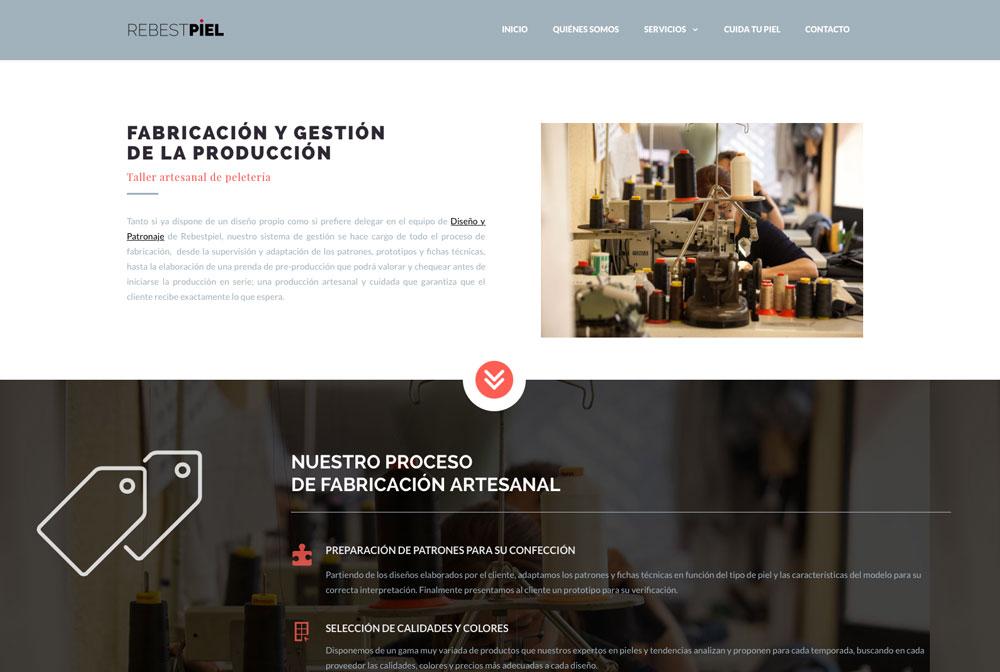 eduardo armada - diseño web peletería rebestpiel