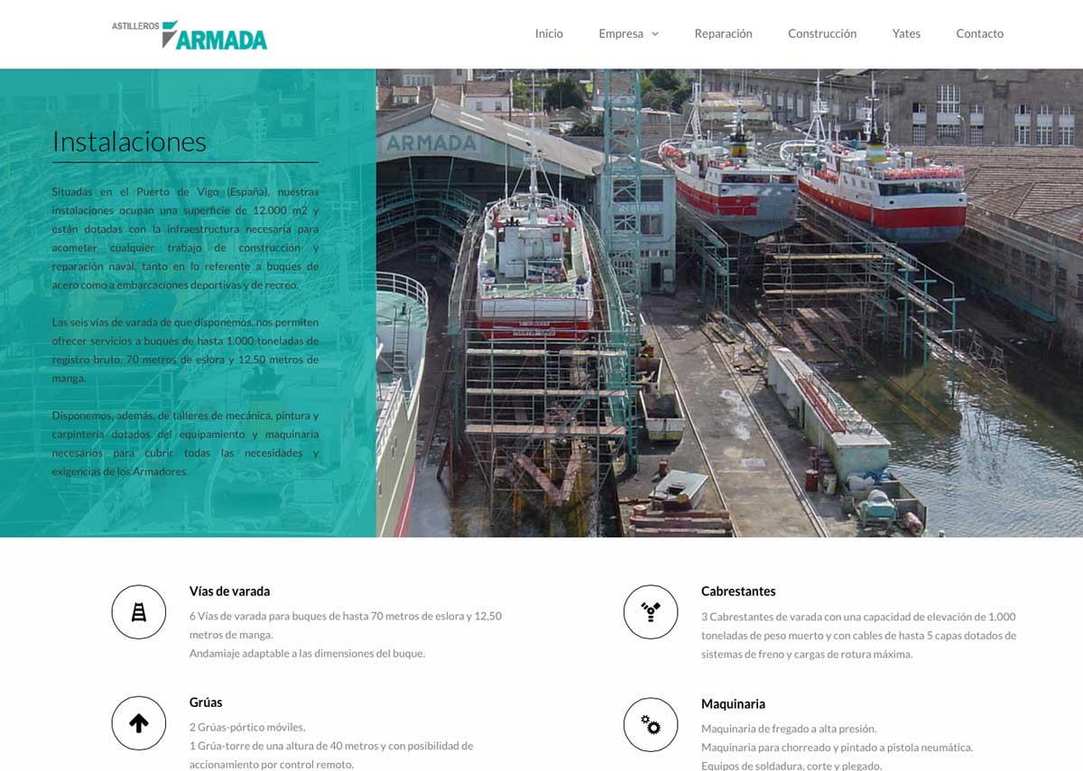 eduardo armada - diseño web sector naval vigo - astilleros armada