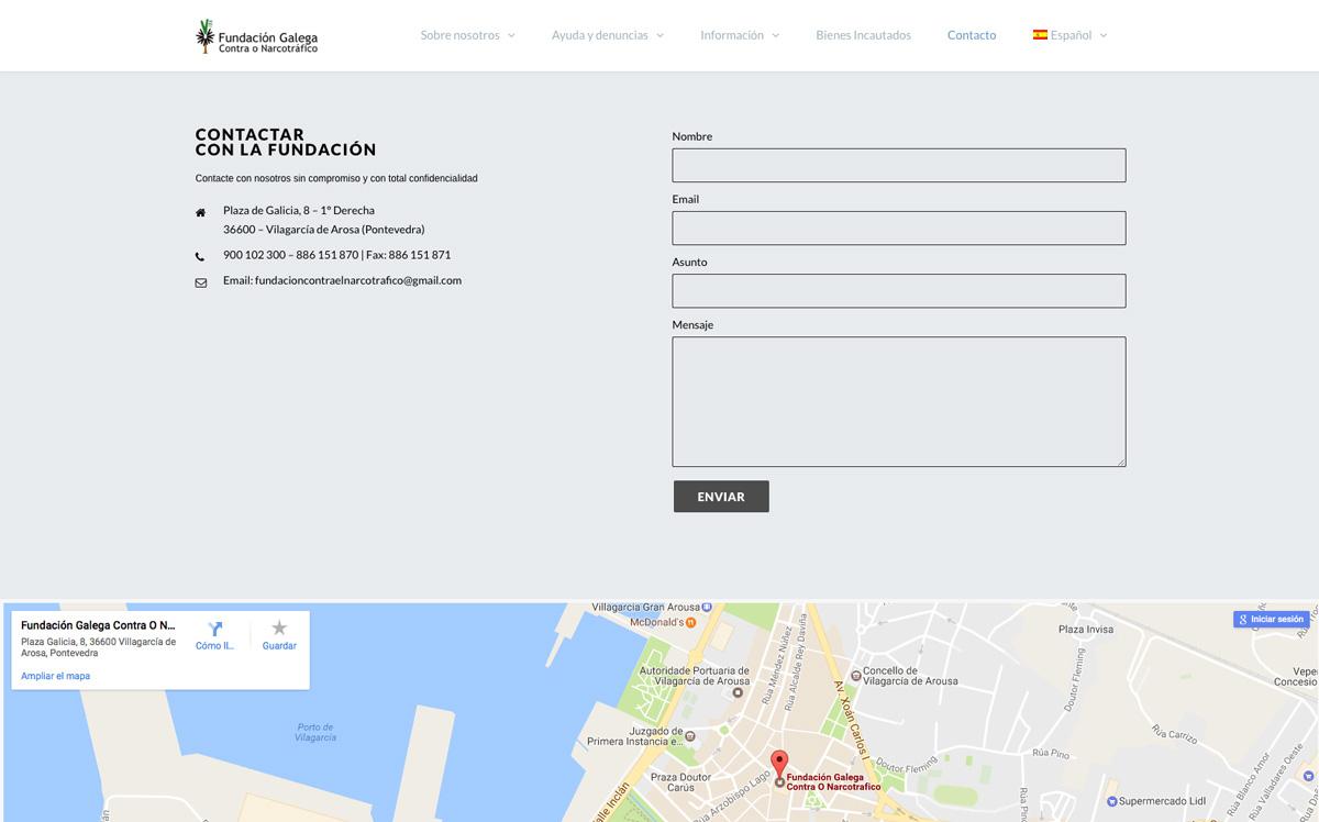 Eduardo Armada Diseño Web - Fundación Galega Contra o Narcotráfico