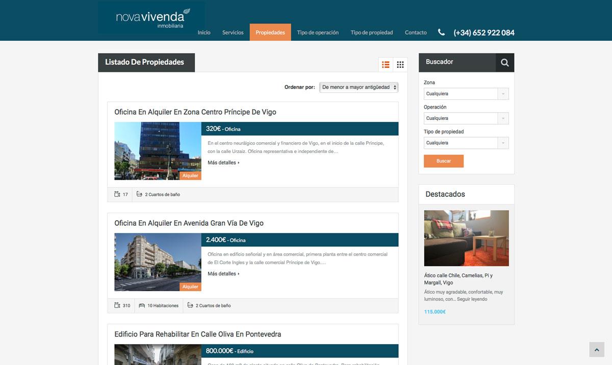 Eduardo Armada Diseño Web - Novavivenda Inmobiliaria